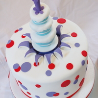 A Cake Upon A Cake ... RKT topper based on something I found here (I think). I was asked to do Dr Seuss in one tier ...