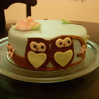 Owl Cake This cake was a hoot! lol pardon the pun ;) All MMF. Dark chocolate cake with SMBC.