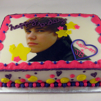 Bieber Fever Birthday Cake