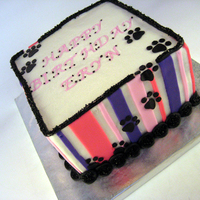 Pawsitively Pink And Purple Birthday Cake