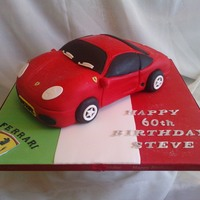 Ferrari Cake Red Ferrari cake, vanilla sponge, buttercream and white chocolate ganache. Everything else is fondant, except logos which are rice paper,...