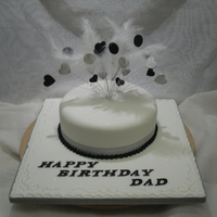 Dads Cake   Vanilla sponge with buttercream and fondant,