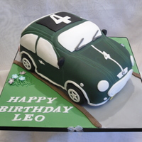 Leo's Car  Chocolate sponge with butter cream and milk chocolate ganache. The wheels were RKT ganached and the covered in fondant. Everything was...
