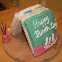 Kaitlyn's 4Th Birthday  An Easel cake I made for my daughter's 4th birthday. She spends hours on her Easel painting so I thought I would make her one out of...