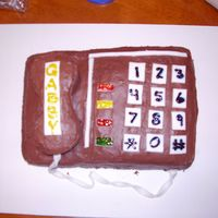 Phone This is my first attempt at making a cake look like something. It was for my mom's birthday, she loves to talk on the phone. It's...