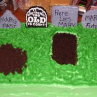 Graveyard This was for my friends 40th b-day. Just a layered 9x13. The tombstones are iced grahm crackers.
