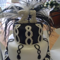 Blk And White 21St Cake
