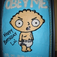Stewie Birthday Cake This is my first BCT and it won't be my last. This was quick and easy for a last minute cake request.