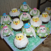 Easter Cupcakes Cupcakes with MMF accents, screams cake central inspiration!