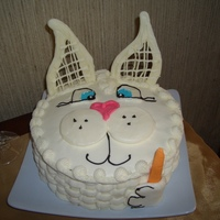 Bunny Cake Bunny cake with white chocolate ears