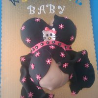 Baby Bump/baby Shower Cake This is my version of the Baby Bump cake. I was inspired by sonya3007. I did this for my niece's baby shower. It was a hit and no one...