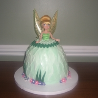 Tinkerbell Cake WASC Cake with BC and fondant accents..