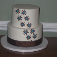 Brown And Turquoise Wedding Cake Chocolate and WASC with BC.