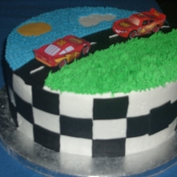 Cars Cake Chocolate Cake with BC and Fondant accents