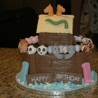 Noah's Ark   A birthday cake made for a friend whose twins were turning 1.