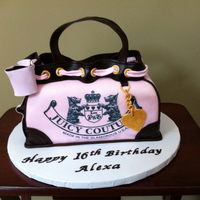 Juicy Couture Juicy Couture Purse Cake for a sweet sixteen birthday.