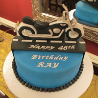 Motorcycle Cake I made this cake for my husband's birthday. He recently got a motorcycle. When I asked him what type of cake he wanted he answered &...