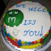 M&m Cake - For Going Away Party