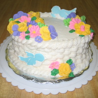 Basket Weave   I made this cake in a wilton class