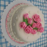Fondant Rose Cake I made this cake for my mother for mothers day