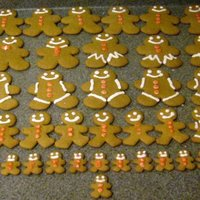 Gingerbread Man Cookies Batch of Basic Gingerbread Man Cookies for brother serving over seas...