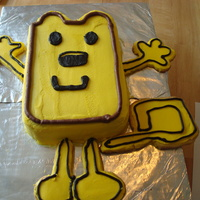 Wow Wow Wubzzy I made this Wubbzy for my son's 2nd birthday party. The body is cake and his hands, feet, and tail are cookies.