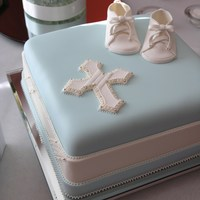 Baptism Booties Baptism Booties and cross