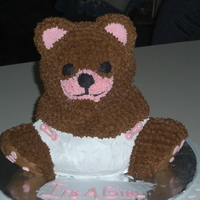 Bear 3d bear baby shower cake for wifes co worker