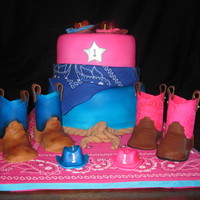 Western Cake   Western themed first birthday cake for twins