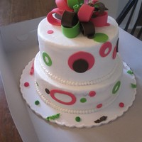 Polka Dots  This was for a friends daughters first birthday. I also did a small smash cake with it! she sent me a picture a the cake she wanted and...