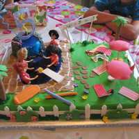 Barbie Pool Cake   Barbie pool cake for my daughters 5th birthday!