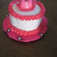 Cowgirl Hat High Chair Cake   cowgirl hat high chair cake