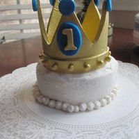 Gumpaste Crown Gumpaste Crown on a high chair cake