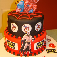 Superhero Cake Superhero Spiderman, Batman Childrens cake
