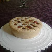 Cherry Pie Cake This is a cinnamon cake with mmf and real cherry pie filling on top. Enjoy.