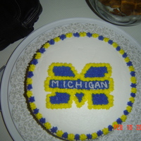 Michigan Wolverine Cake