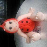 Baby Ladybird Made this at one of my sessions in a class just a quick model for a cake topper. Made from Sugarpaste