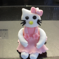 Hello Kitty Topper Made from modelling paste