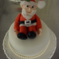 "Mini Christmas Cake 3"" small fruit christmas cakes Marzipaned and fondant. I have made for charity"