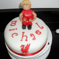Liverpool Football Player Model This cake was made for my daughters fiance for his birthday. Sort of modelled from a picture of him
