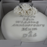 25Th Wedding Annniversary Cake Made for a 25th Wedding Anniversary using sugarpaste