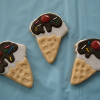 Ice Cream Cone Cookies made these as favours for guests at my daughters 2nd bday party.