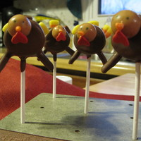 Turkey Pops Inspired by Bakerella's turkey cake pops, but made with marshmallows, peanut butter whoppers, etc. Kids loved 'em!