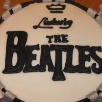 Beatles Drum Birthday Cake