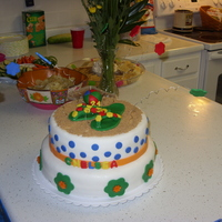 Luau Themed Birthday Cake I made this for my friends birthday. She was having a luau so I made this for her. This was my second cake I've made. It was chocolate...