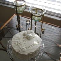 Anniversary Cake I wanted to duplicate the couple's wedding cake for their 2nd anniversary. I am sure they will love it.