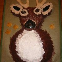 Mounted Deer Marble cake with chocolate and buttercream icing. The antlers are fondant with vertical lines scribed into them to give a more real...