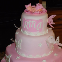 It's A Girl Cake for a baby shower, the Mom wanted pink and butterflies.