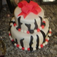 Bridal Shower Zebra Cake