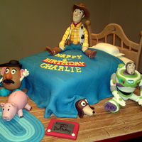 Toy Story Toy Story cake, all handmade & completely edible.